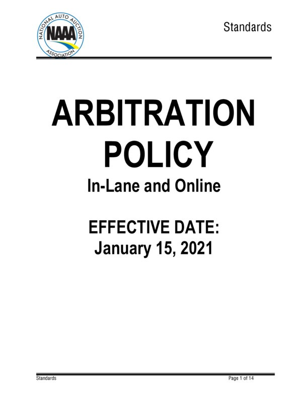 NAAA Arbitration Guidelines